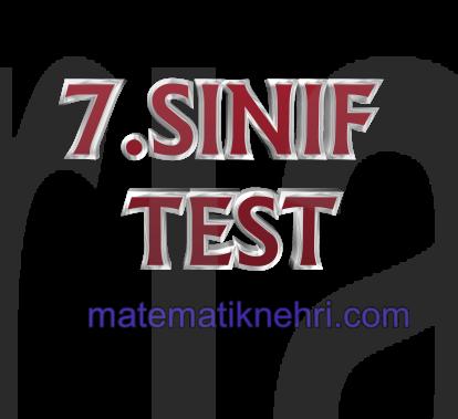 7.SINIF MATEMATİK TESTİ