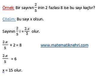 denklemler örnek 2