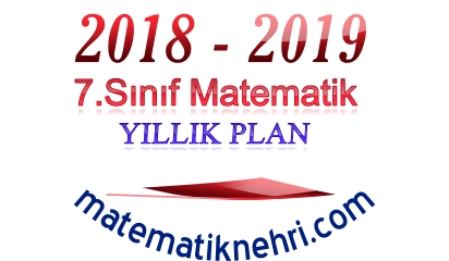 7.Sınıf Matematik Yıllık Planı