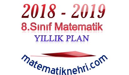 8.Sınıf Matematik Yıllık Planı