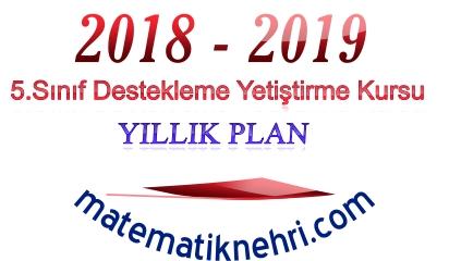 5.Sınıf Matematik DYK Yıllık Planı
