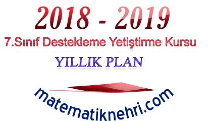 7.Sınıf Matematik DYK Yıllık Planı