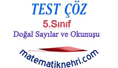 5.Sınıf Doğal Sayılar ve Okunuşu Online Test 1