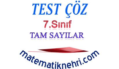 7.Sınıf Tam Sayılarla İşlemler Test 1 Online